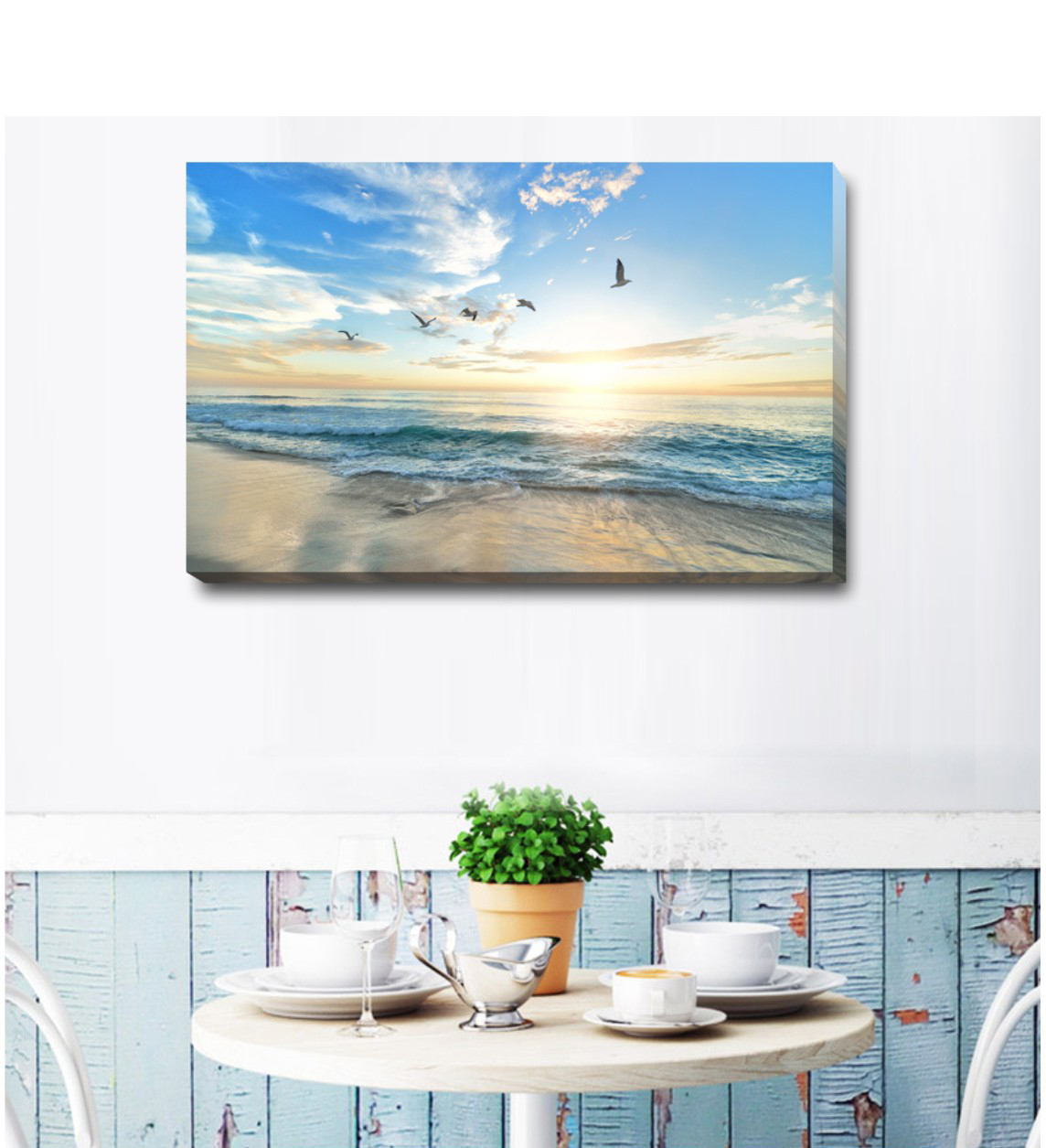 Birds Flower Stretched Canvas Print Framed Wall Art Shop Home Decor Deco FW65