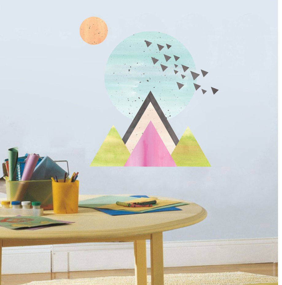 Tatiri Letter M Door Sign Label Cute Kids Room Wooden Orange Mandy Malcolm