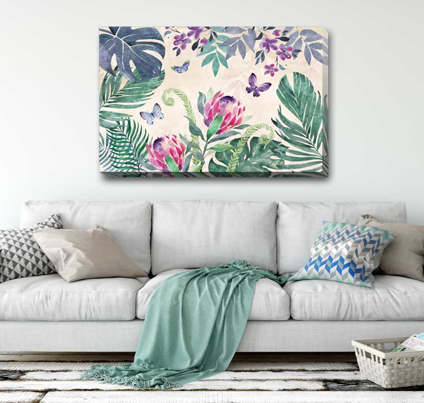 40x70x3cm Abstract Grid Pattern Stretched Canvas Print Wall Art FRAMED Painting