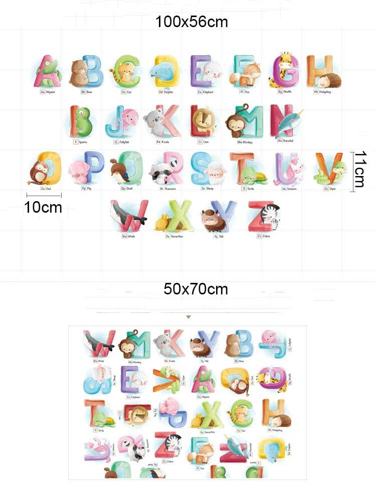 (A-Z) Animal Alphabet Wall Sticker Kid Nursery Baby Decor Decal Art Mural Gift