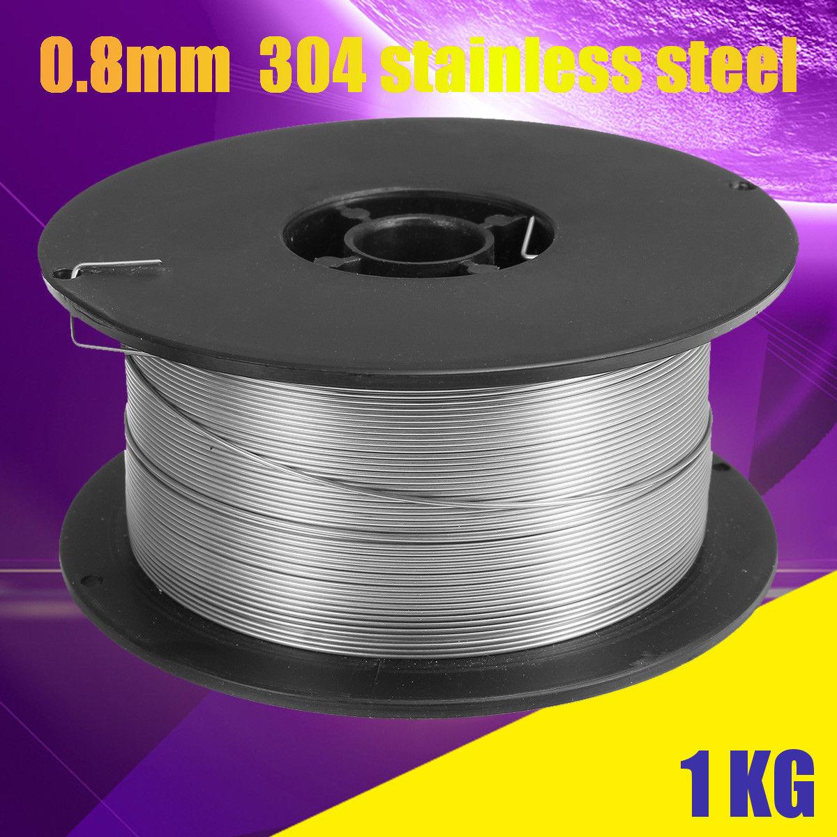 Flux Core Welding Wire >> Details About 1kg 0 8mm Stainless Steel Gasless Mig Welding Wire Flux Cored Welding Equipment