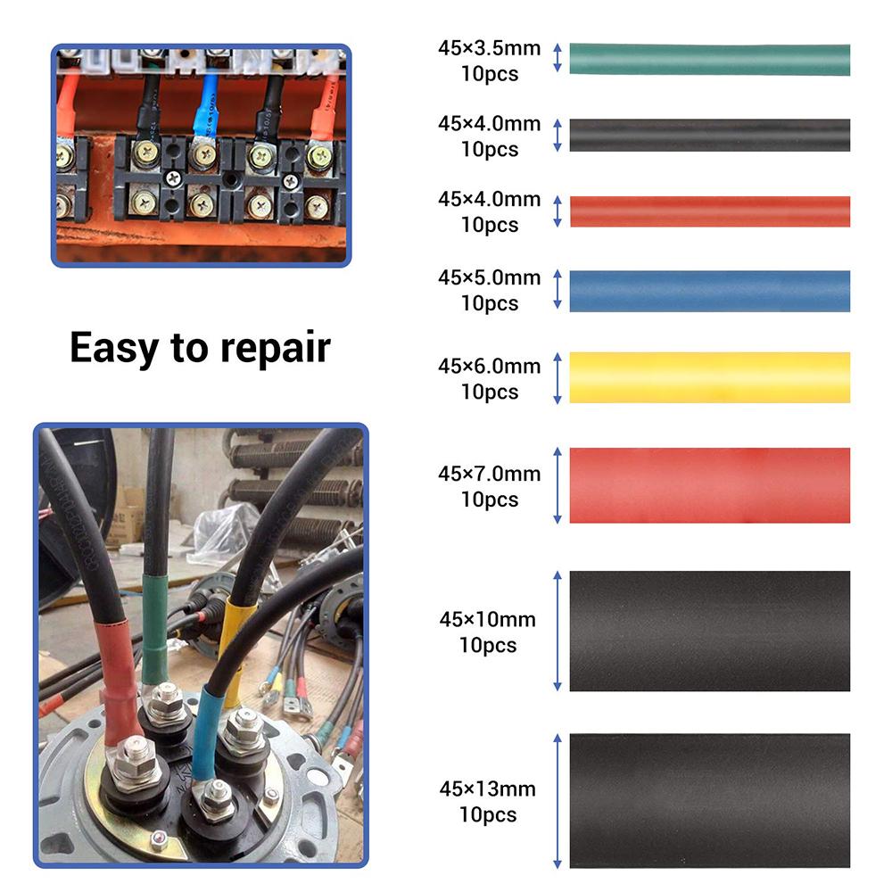 328pcs Cable Heat Shrink Tubing Sleeve Wire Wrap Tube 2:1 Kit Set Assortmen G4C3