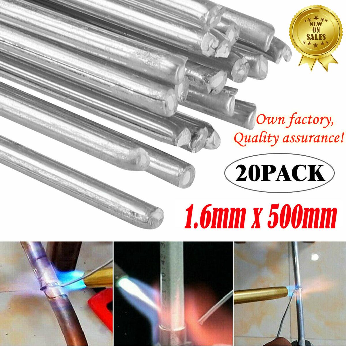 50 PCS Solution Welding Flux-Cored Rods No Flux Required,Low Temperature Aluminum Welding Wire