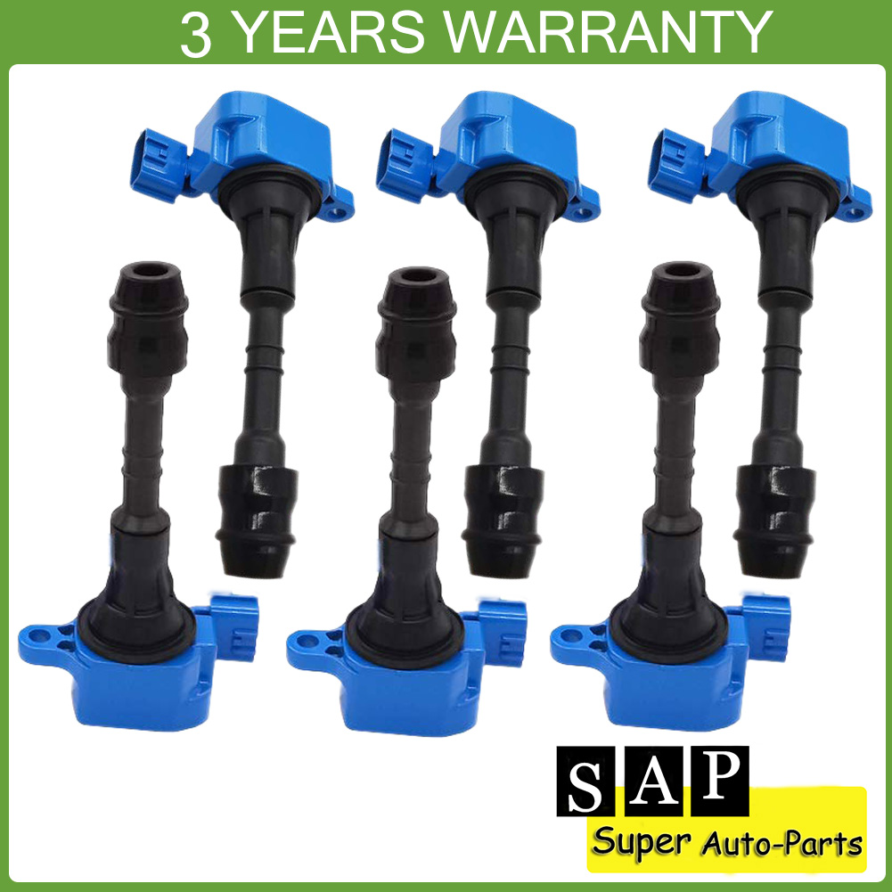 Set of 6 Ignition Coil For 03-09 Infiniti FX35 G35 M35 Nissan 350Z UF401 C1439