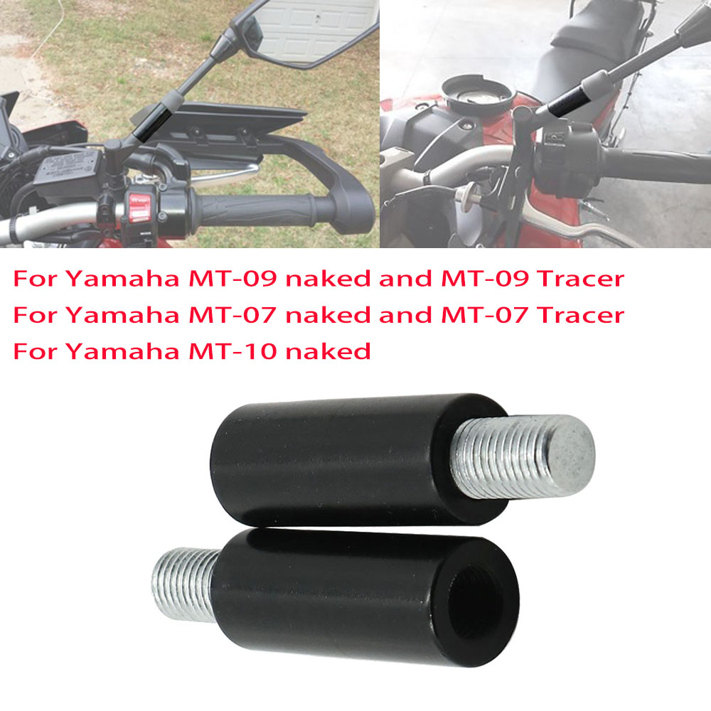 Rear View Mirrors Extenders For Yamaha MT09 FJ09 MT07 Tracer MT10 40mm