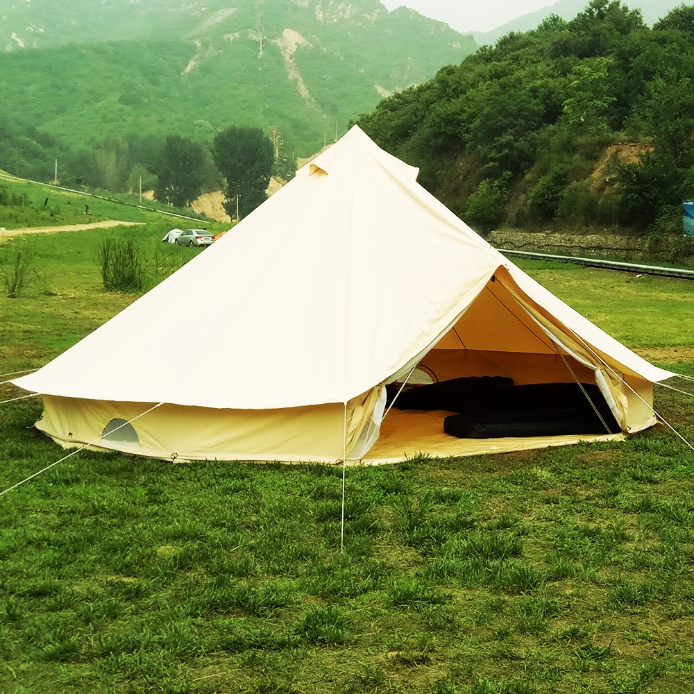 Details about 3/4/5/6M Safari Tents Bell Tent Waterproof Canvas Glamping  Camping Outdoor Tents