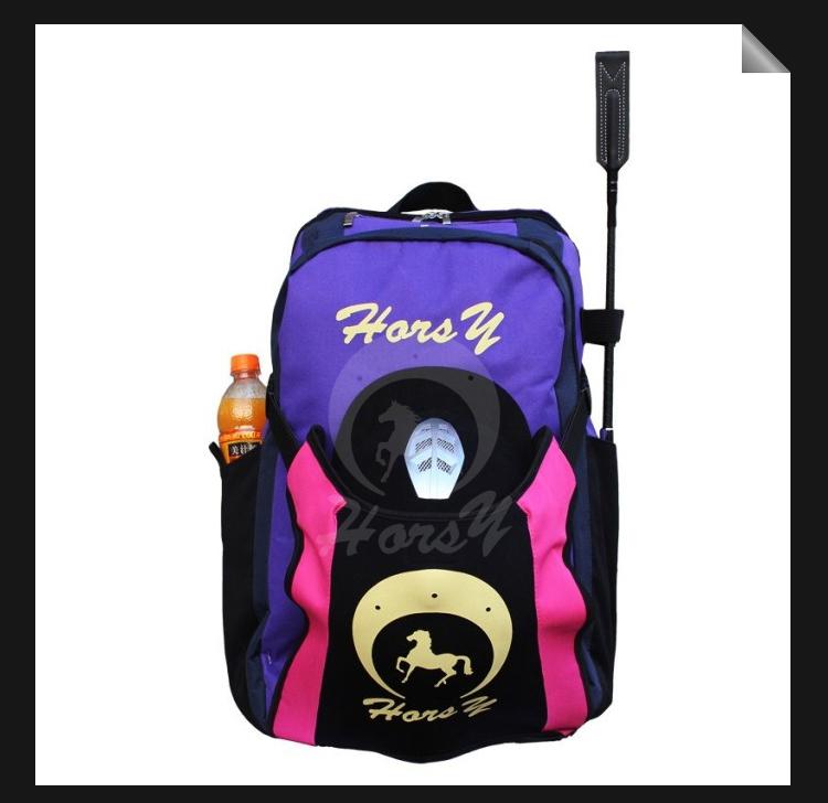 Professional Horse Riding Boots+Helmet Bag Backpack Equestrian Horse Riding Bag