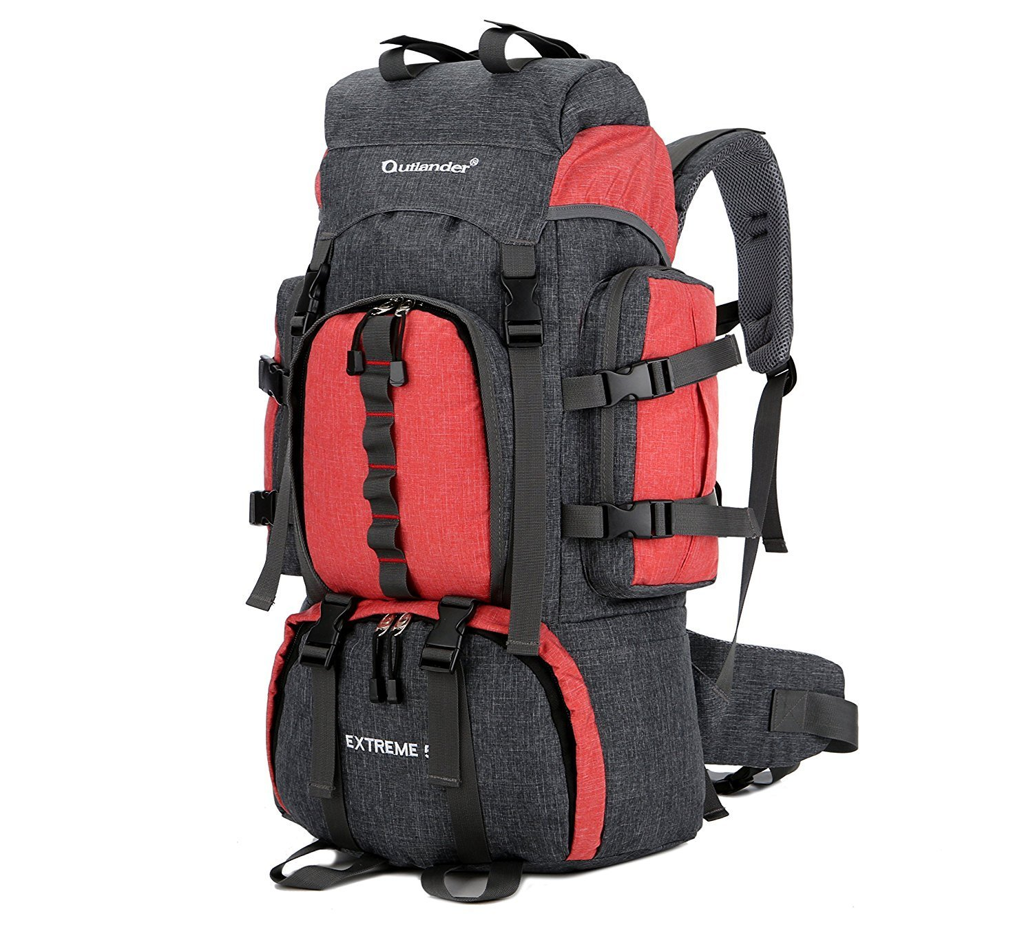 dfa49b4b2dfd Details about 55L Backpack Internal Frame Hiking Backpacking Lightweight  Waterresistant Travel