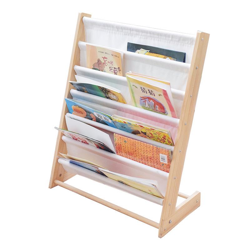 6 Pockets Kids Toddler Childrens Bookshelf Book Rack Storage Organizer Fordable