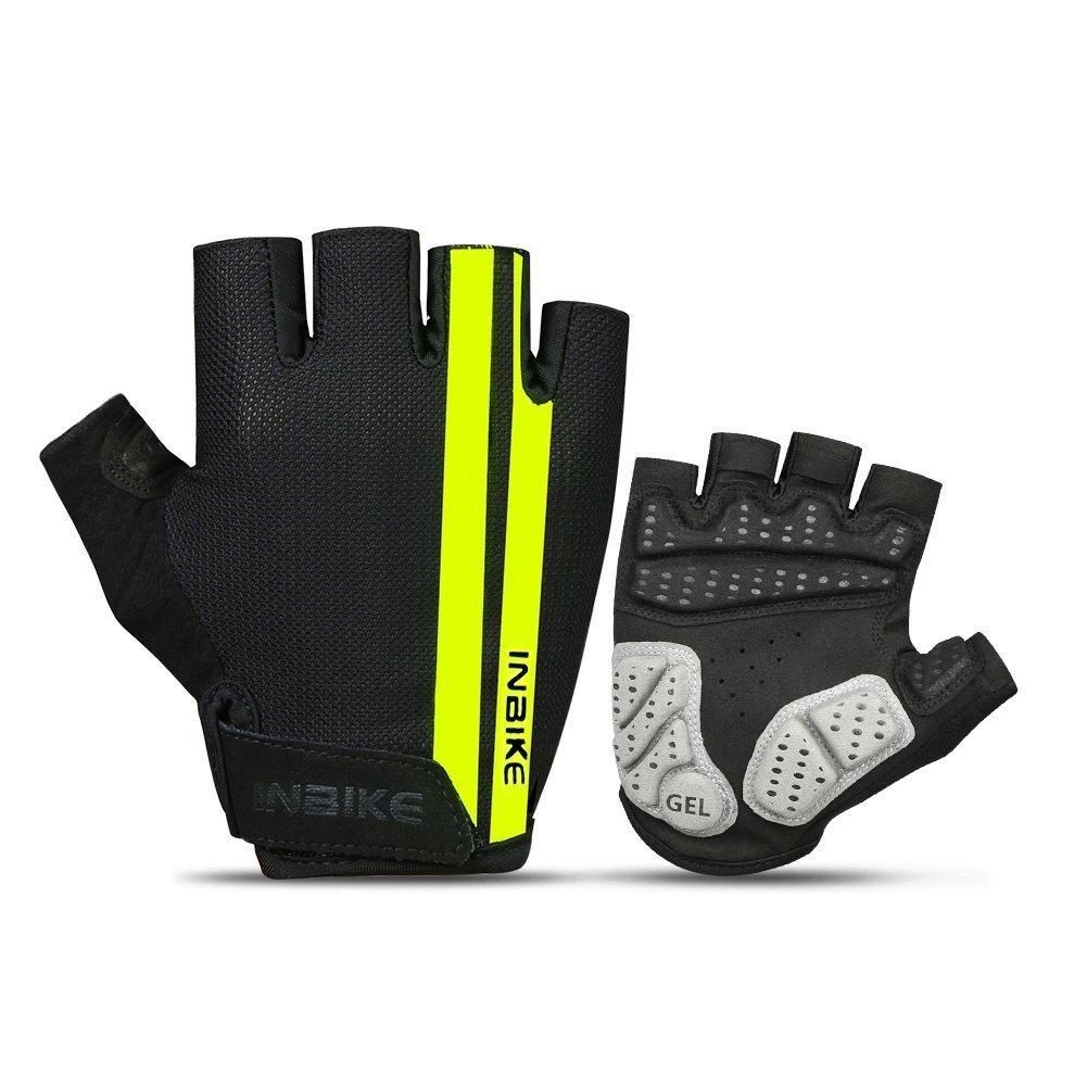 PJ INBIKE Cycling Gloves Bike Gloves Mountain Road 5MM Pads Half Finger