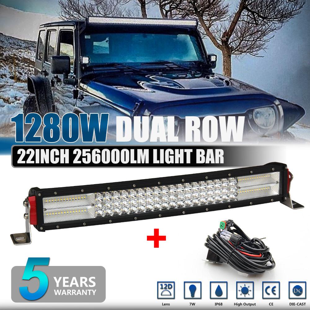 "Philips 22inch 1200W LED WORK LIGHT BAR SPOT//FLOOD COMBO TRUCK OFFROAD 20 24 32/"""