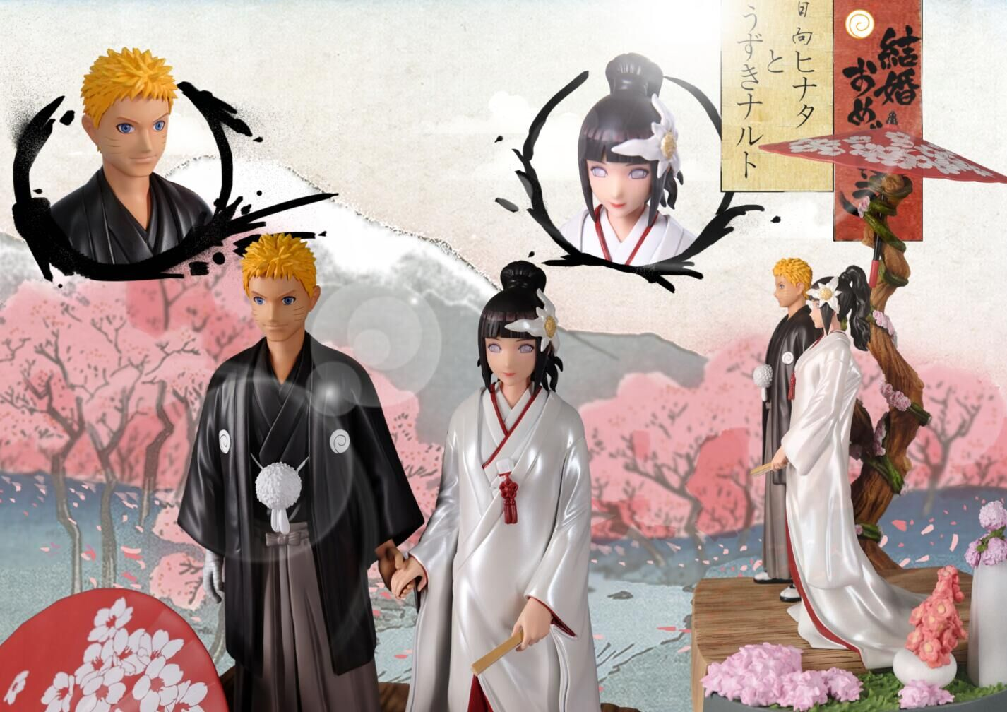 Naruto Hinata Wedding.Details About Simple Studio Naruto Uzumaki Hyuga Hinata Wedding Marry Collector Resin Statue