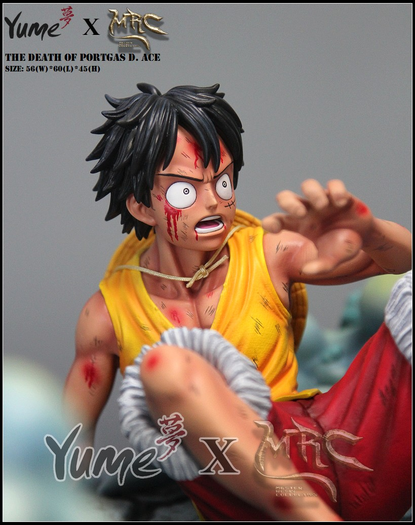 One Piece GK Statue Mrc/&Yume Ace/'S Death Luffy Ace Sakazuki Collector Figure