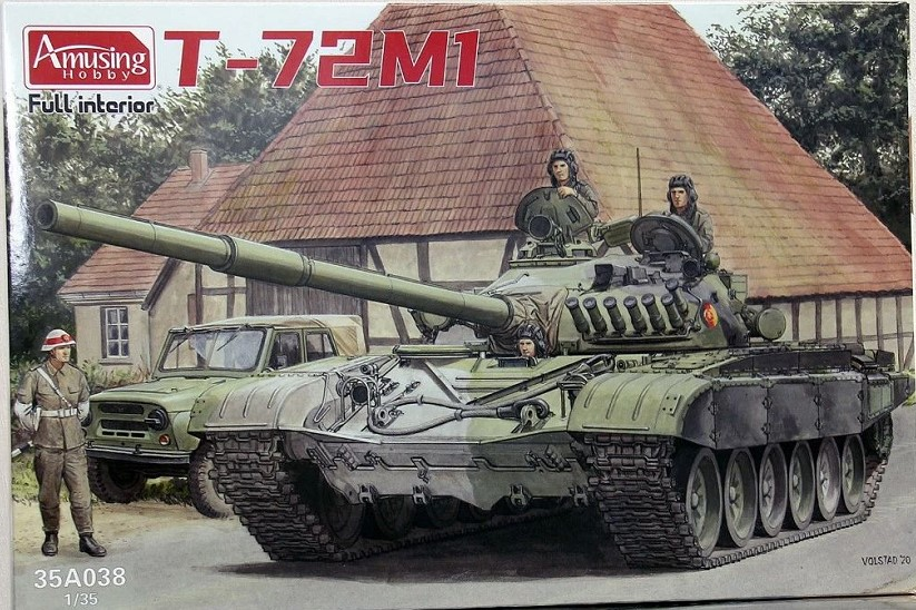Amusing AH35A038 1//35 T-72Ml Russian army tank with resin soldiers and poster