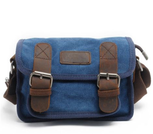 26b0ee64d3 Mens Vintage Canvas Leather Military Mini Shoulder Messenger Bag. SIZE   (Length 22cm  Height 15cm  Thickness 10cm ) GOOD FOR   TABLET CELLPHONE    WATER BAG