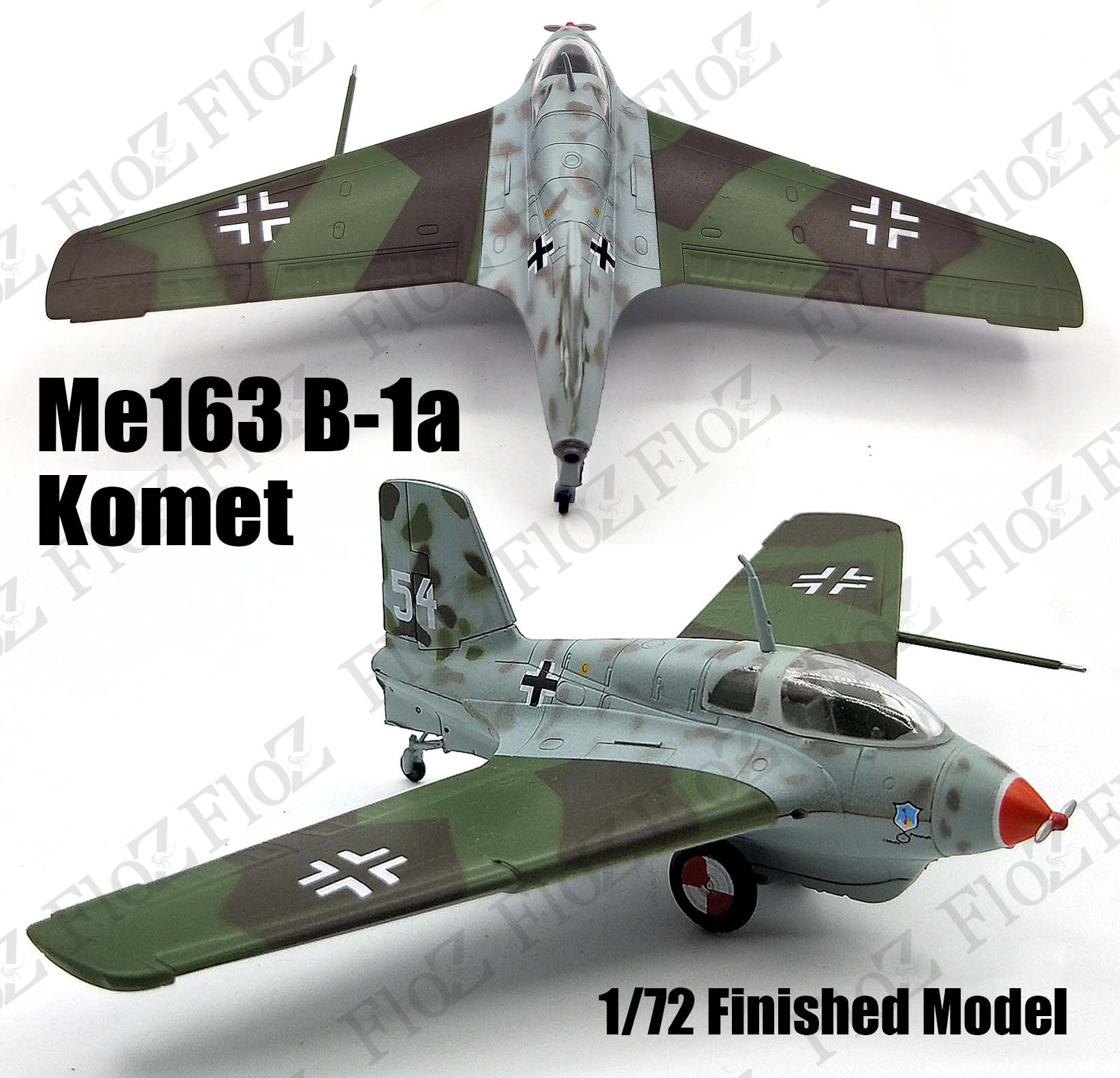 Easy Model 36340 ME163 B1a White 54 in 1:72