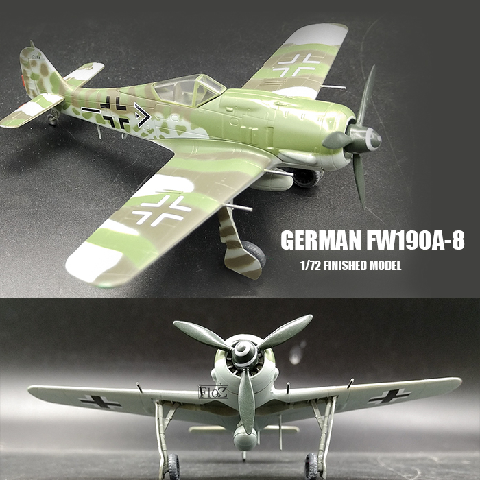 WWII GERMAN FW190A-6,5.//JG54.Autumn 1943.1//72 aircraft finished plane Easy model