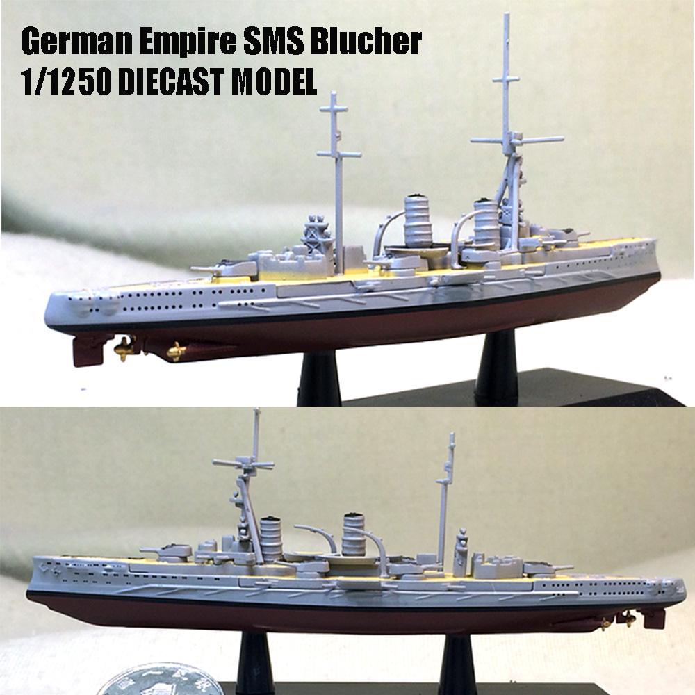 GERMAN BLUCHER 1//1250 diecast model ship DEAGOSTINI Battle ship