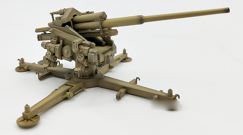 WWII German 128mm Flak40 with Kreuzlafette 1944 in 1:72 Modelcollect  AS72076