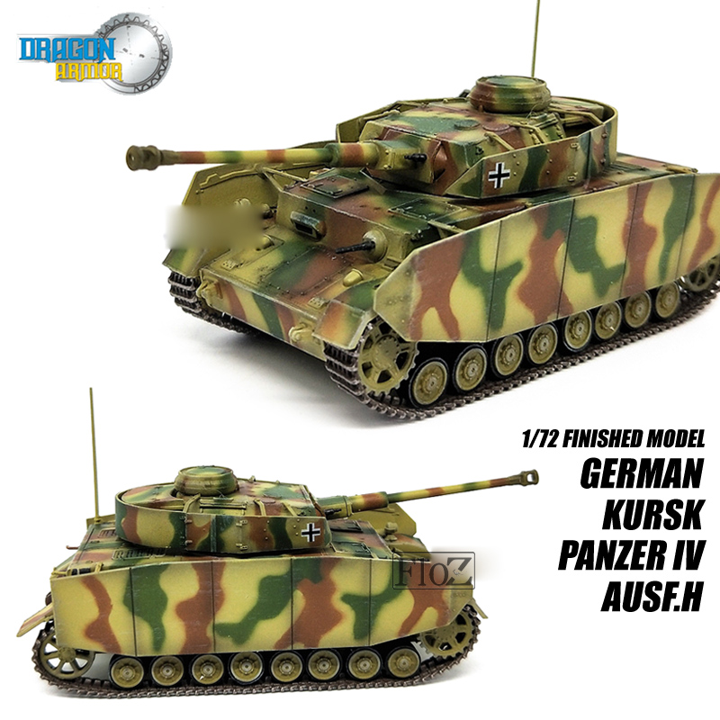 most popular well known cheap for discount Details about DRAGON GERMAN KURSK PANZER IV AUSF.H 1/72 tank model finished  non diecast