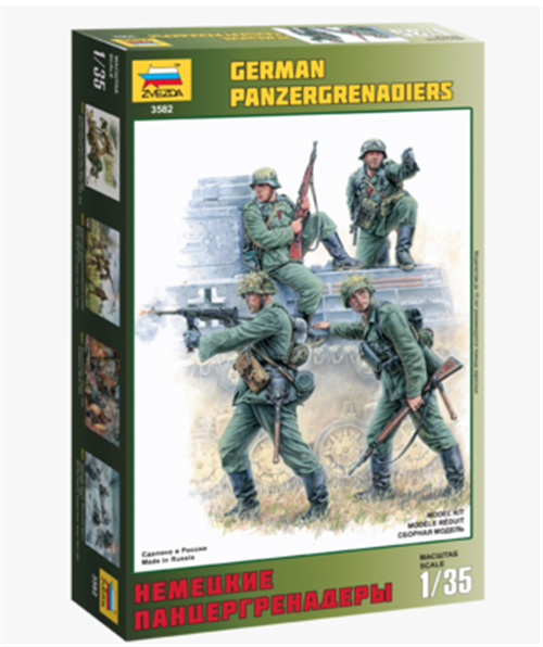 Zvezda 1//35 German Sturmpioniere Sappers Soldiers WWII Figure Model Kit 3613