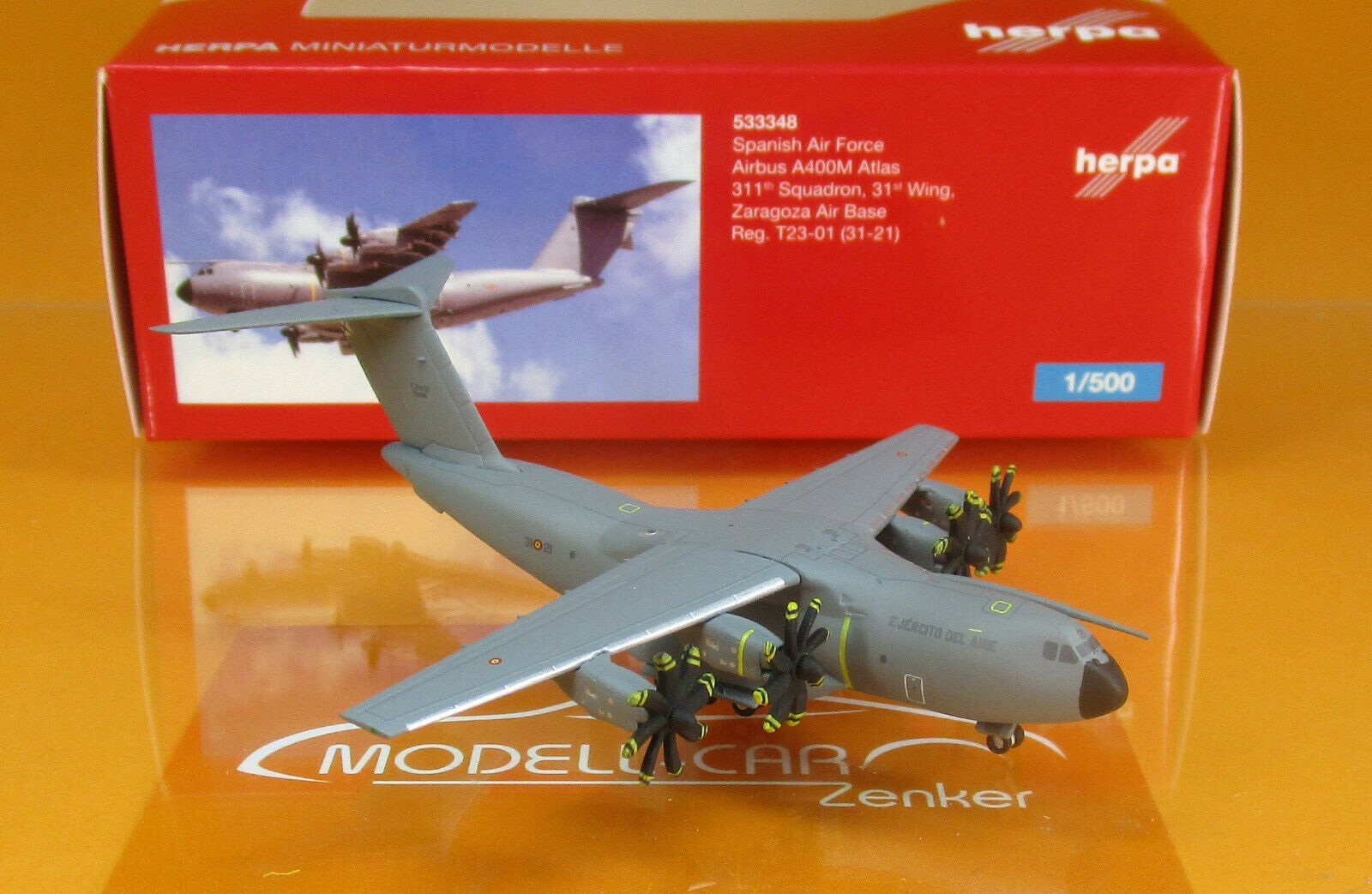 Herpa Wings 1:500 Spanish Air Force Airbus a400m Atlas 533348