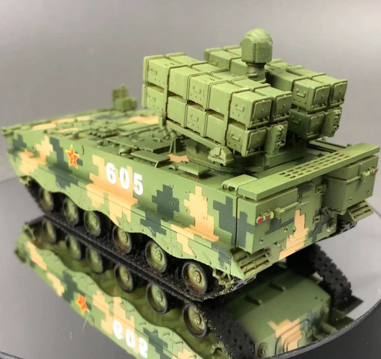 New 1:72 China PLA HJ-10 Anti-tank Missile Vehicle Tricolor Camouflage Model