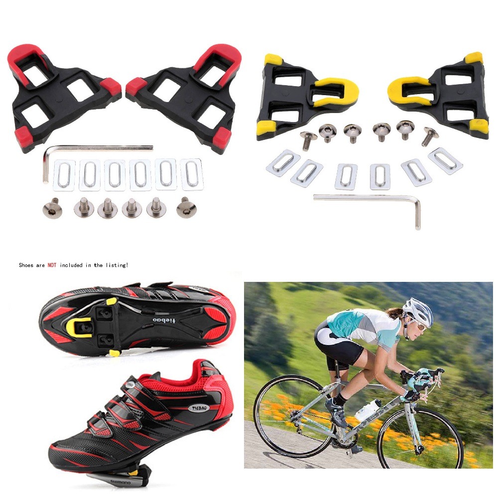 b971a25bdb7 2Pcs Road Bike Cycling Self-locking Pedal Cleats Set For Shimano SM-SH11 SPD -SL Pedals