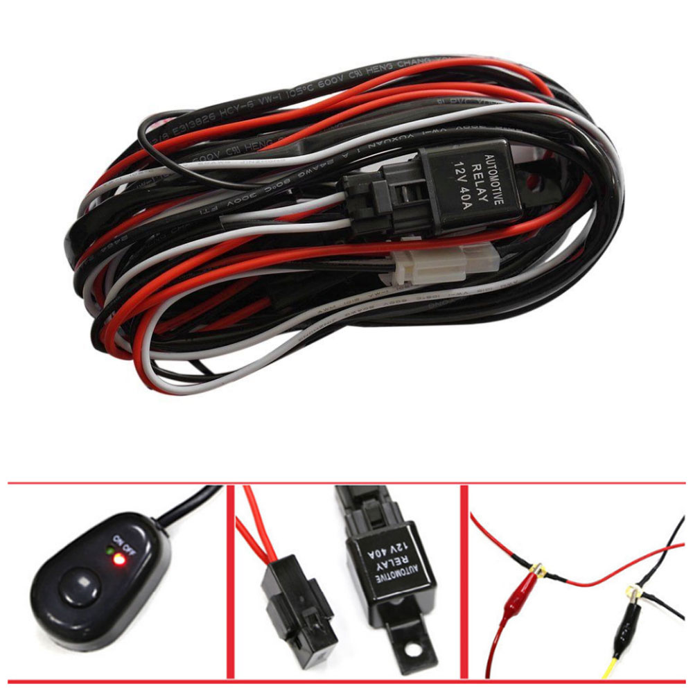 Wiring Harness Kit Loom For Led Work Driving Light Bar With Fuse Lights Accessories 12v 40a Hid New Heavy Duty Suitable Fog And Bars Anti Aging Coating Effectively Prevent From Breaking Off