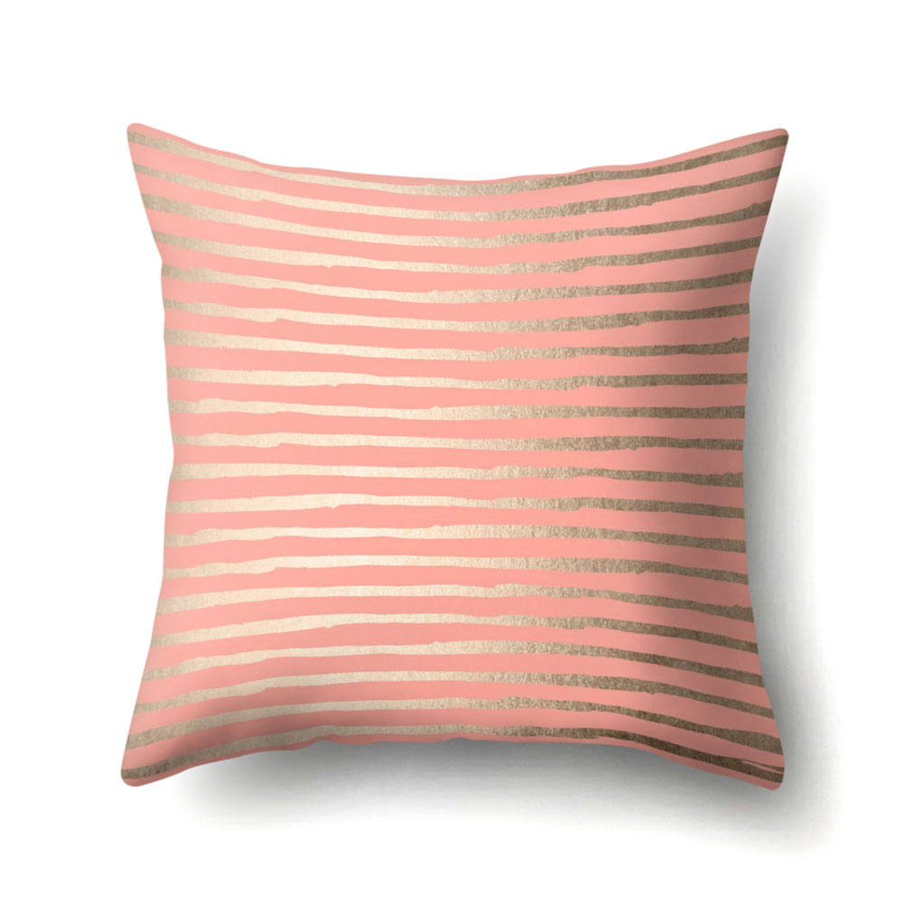 Peach skin cashmere rose gold pink pillow cover square pillow covers decorative