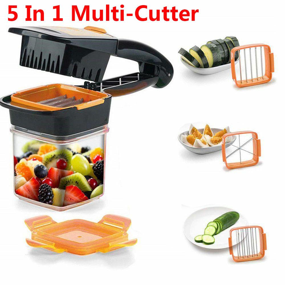 Details about Nicer Dicer 5 in 1 Multi-Cutter Quick Food Fruit Vegetable  Cutter Slicer Chopper