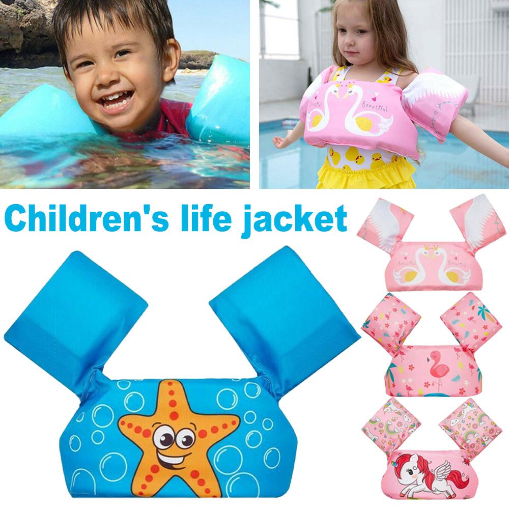 Children Swim Arm Bands Swimming Floats Vest Kids Life Jacket Puddle Jumper Vest