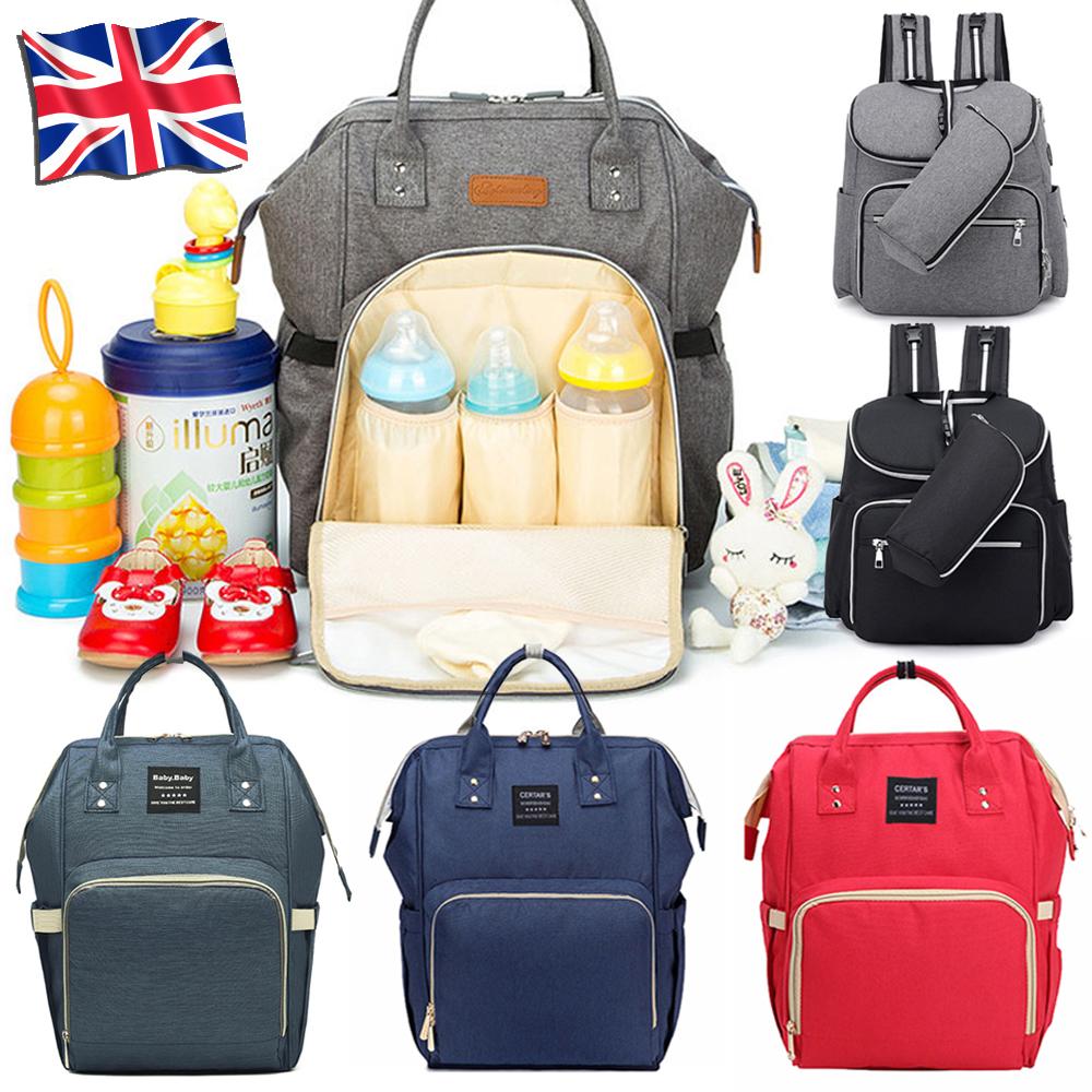 Waterproof Large Mummy Nappy Diaper Bag Baby Travel Changing Nursing Backpack