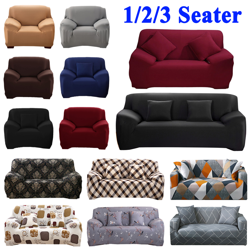 10 Solid Color Couch Slip Stretch Sofa Cover 1 Seater 2 Seater 3 Seater 4 seater