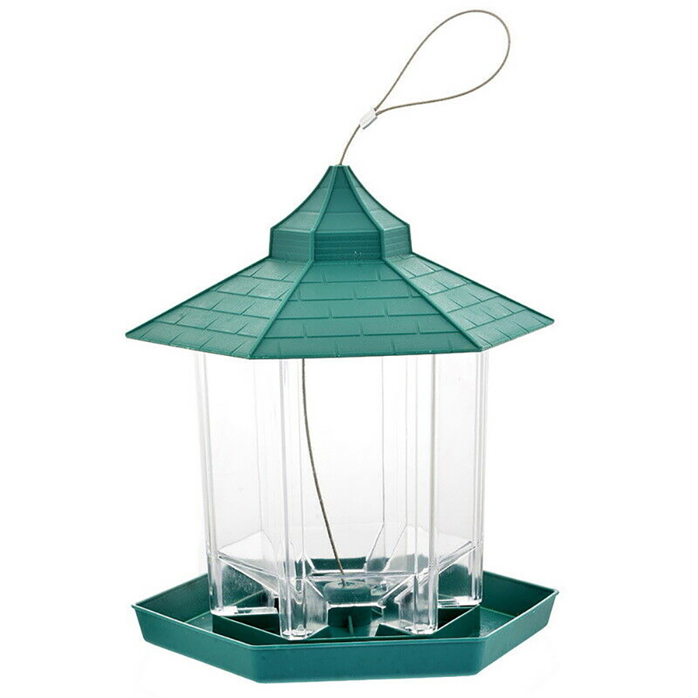 Gazebo Plastic Hanging Wild Bird Feeder Feeding Garden Outdoor Wild Birds MAR UK