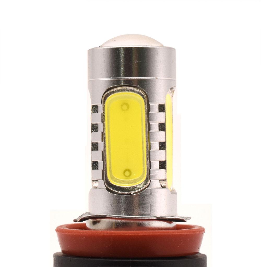 2Pcs H11 H8 White 6000K 15W COB LED Fog Lights Fit For