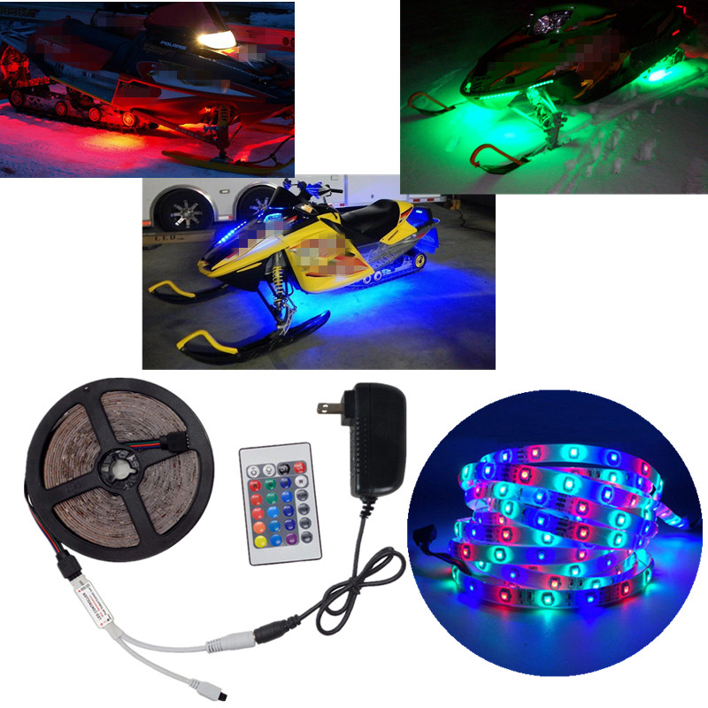 Details About Rgb Led Under Glow Light Strip Kit For Ski Doo T3 Summit X163 And 174 Snowmobile