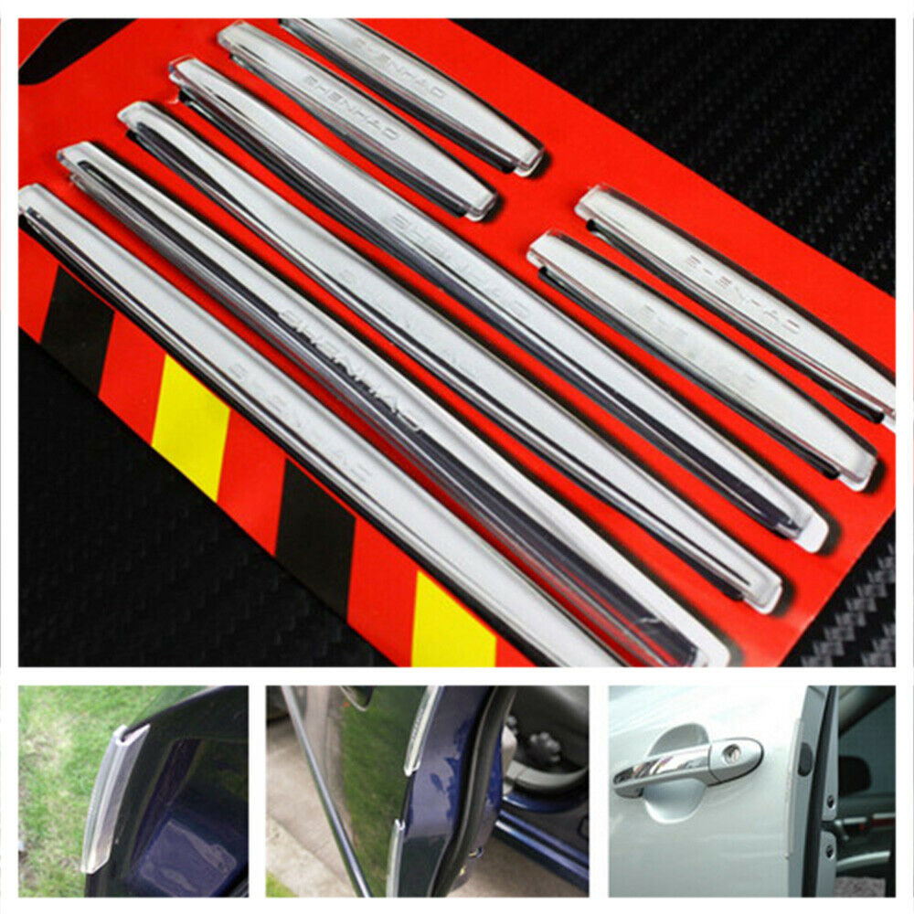 8PCS Car Accessories Door Edge Guard Strip Scratch Protector Anti-collision Trim