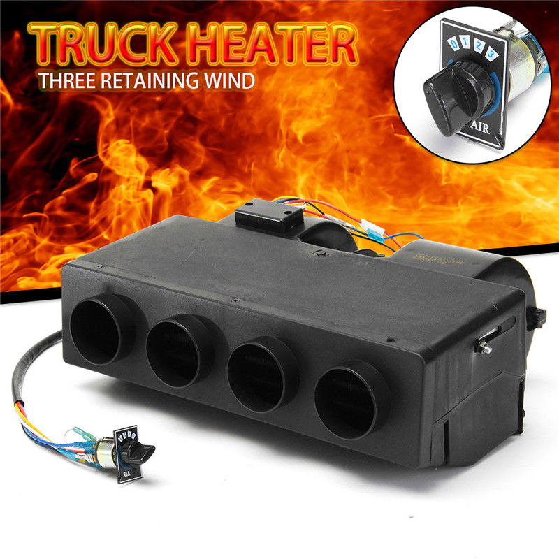 3 Hole Car Vehicle Fan Heater Defroster Demister Heating Warmer Windscreen 12V