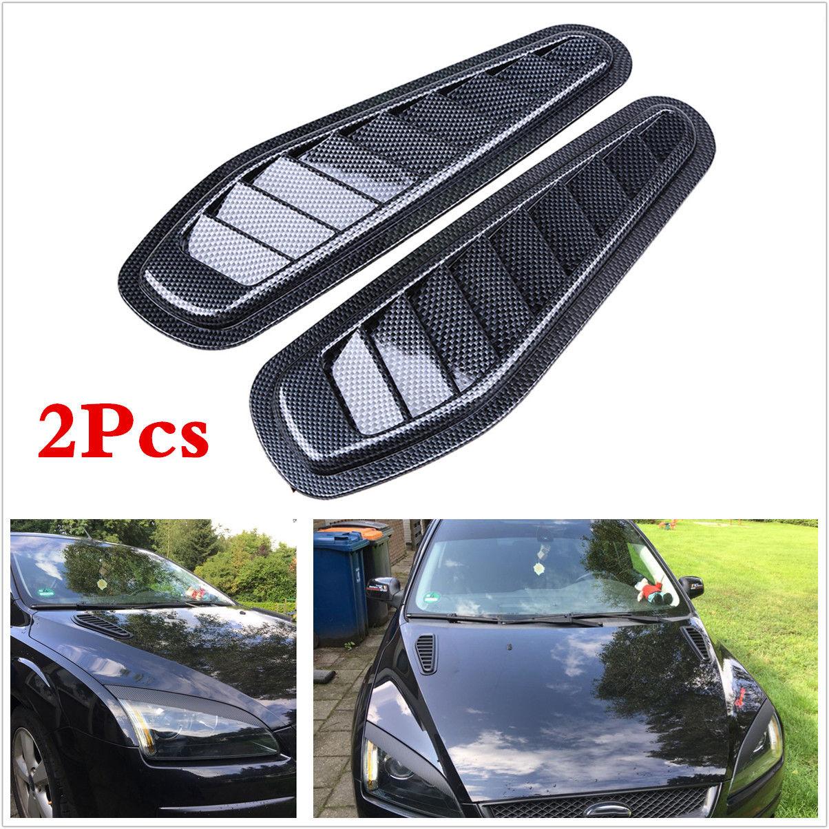 ABS Race Car Hood Scoop Carbon Style Bonnet Air Vent Decorative Accessories 2*