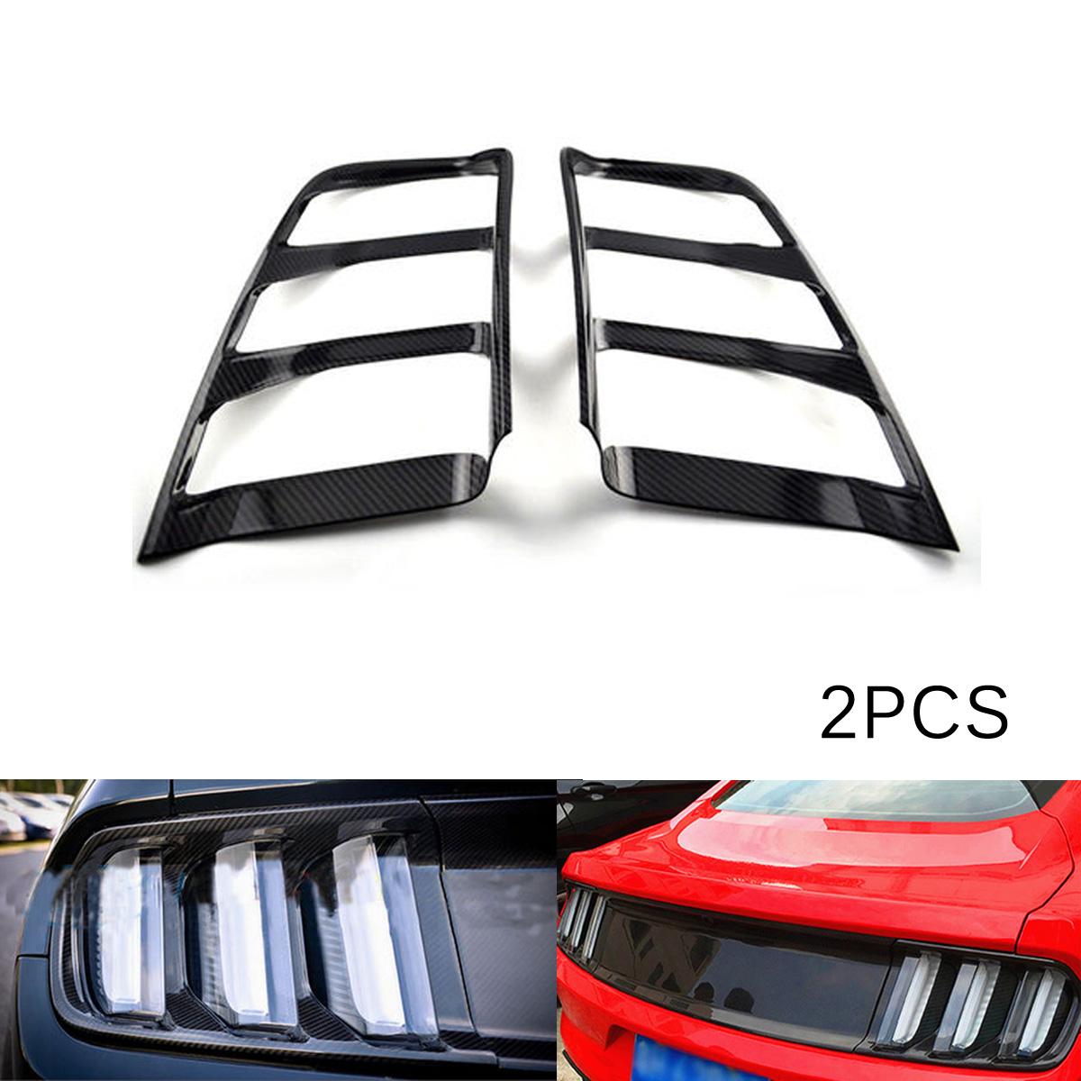 Chrome Rear Side Bumper Warning Light Cover Trim 2pcs For Ford Mustang 2015-2017