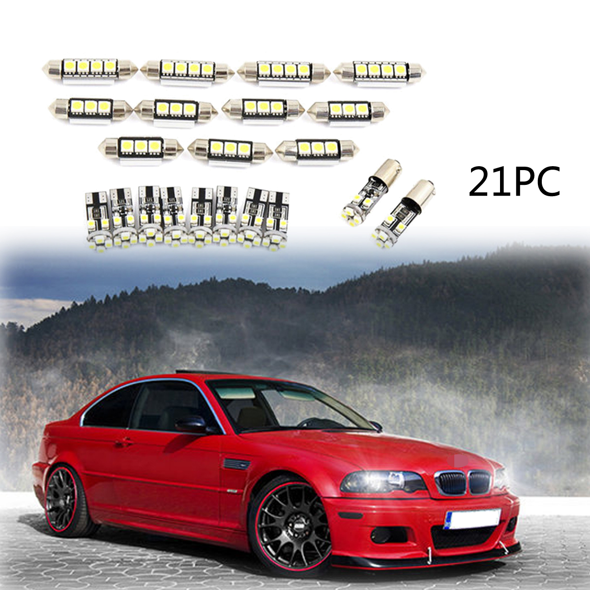 Red Led Light Interior Package Kit 12v For Bmw E46 Sedan Wagon Coupe 1999 2005
