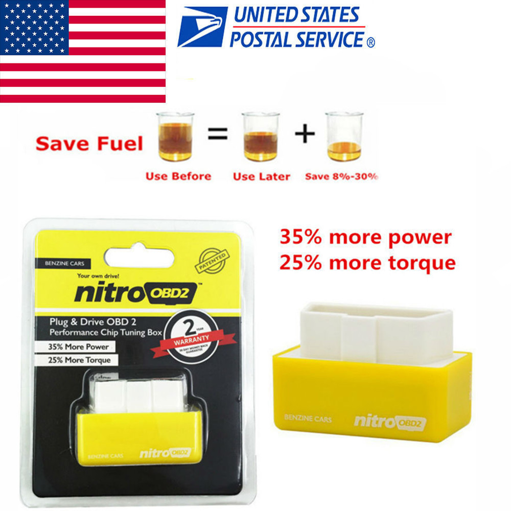 Car Nitro OBD2 Performance Tuning Chip Box For Gas/Petrol Vehicles