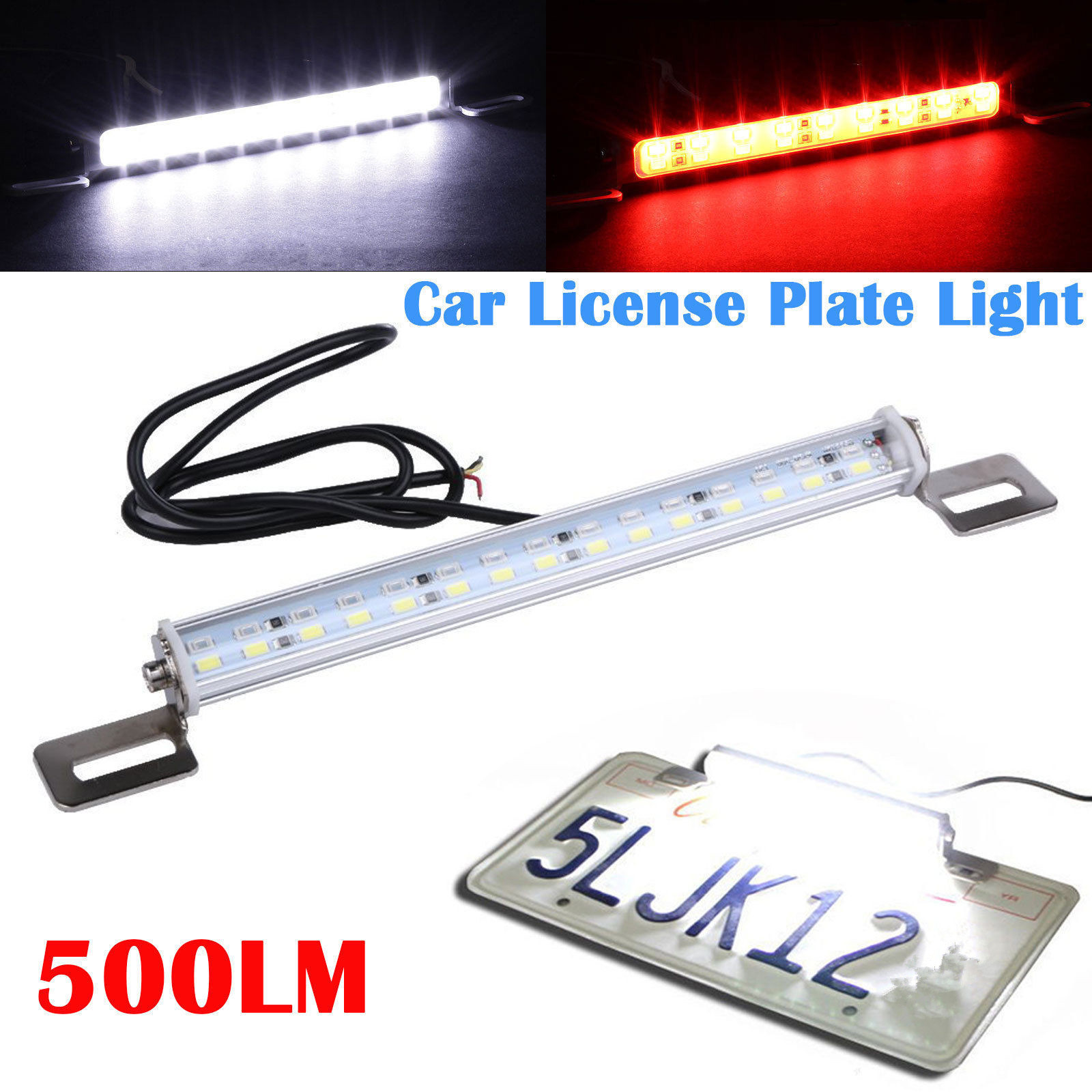 2x White LED Screw Lights Number Plate Directed Light Bolts Car Van Bolts BRIGHT