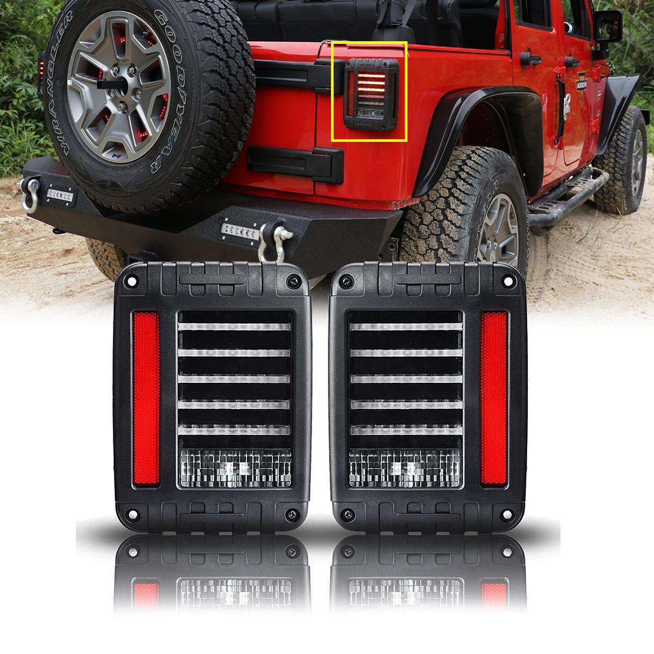 4pc Dual Burn Headlight Amp Tail Light Kit Fit Jeep Wrangler