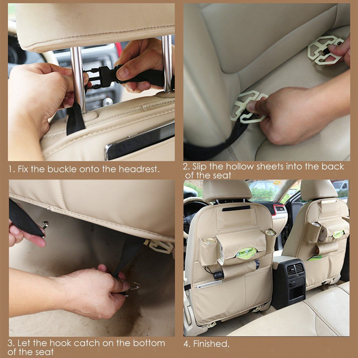 Kick Mat For Car Auto Back Seat Cover Kid Care Organizer Protector Cleaning 2pk