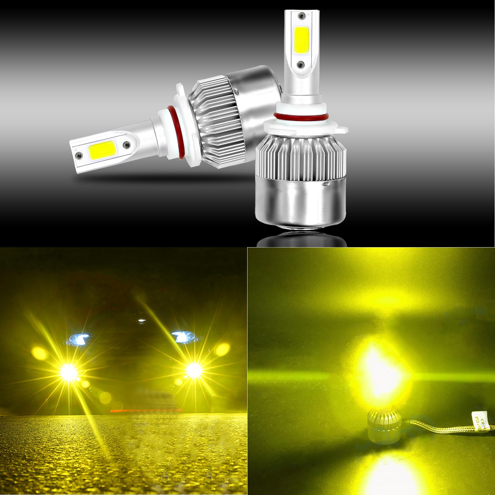 NEW 9006 HB4 3000K Yellow 8000LM Cree Led Headlight Bulbs Kit High Low Beam