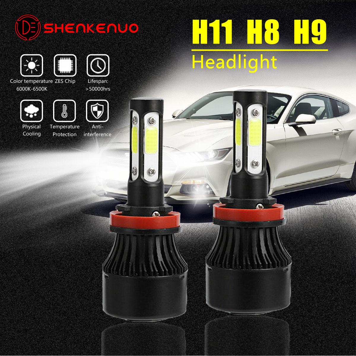 H11 Fog Lights For Mustang 2005-2012 4sides Dual Hi//Lo Beam H13 LED Headlight