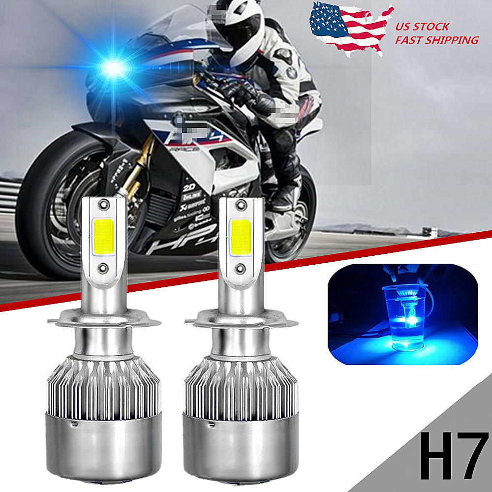 2x Ice Blue 8000K H7 LED Bulbs Headlight Low Beam Conversion Kit for BMW US