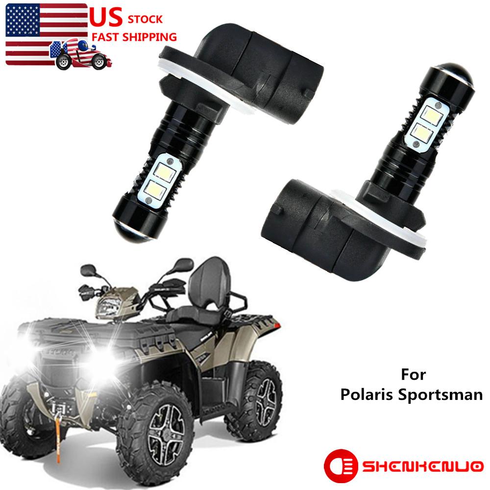 For Polaris Sportsman 500 550 570 600 700 800 850 XP Headlight Led Bulbs 50W 2PC